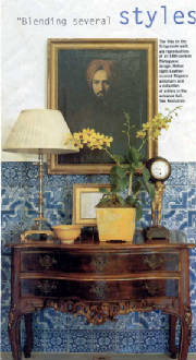 Portuguese Manor With Blue And White Tile A Montecito C